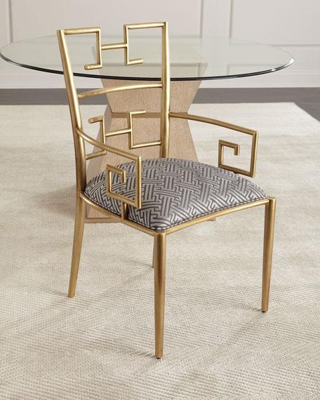 Kalmata Brass Arm Chair