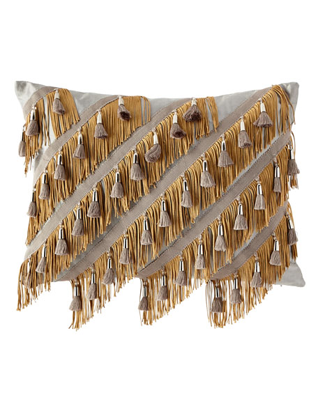 Dian Austin Couture Home Glitz Fancy Fringe Pillow
