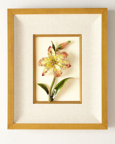 Swarovski® Crystals Lily Wall Art