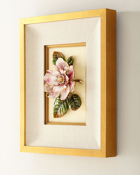 Jay Strongwater Magnolia Wall Art