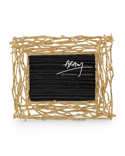 Twig Picture Frame  Gold