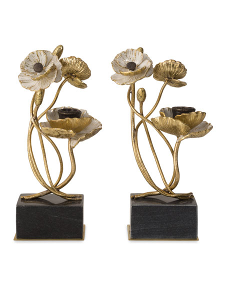 Anemone Candleholders, Set of 2