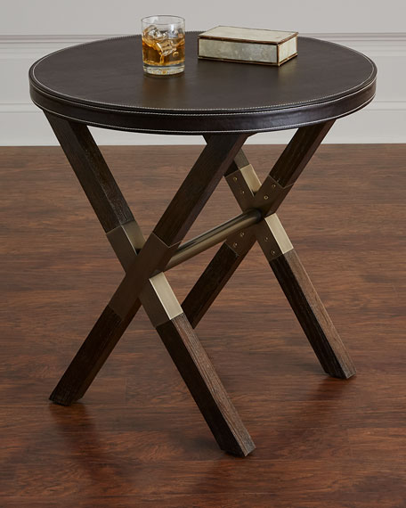 Clarendon Round X-Frame Side Table