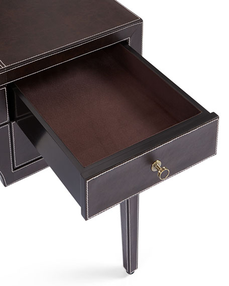 Clarendon Leather-Wrapped Writing Desk