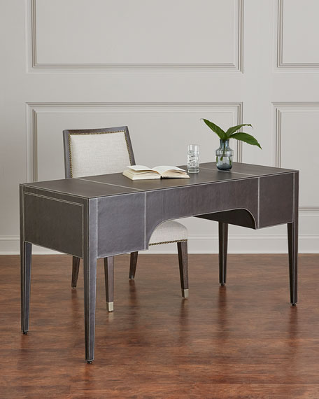 Bernhardt Clarendon Leather-Wrapped Writing Desk