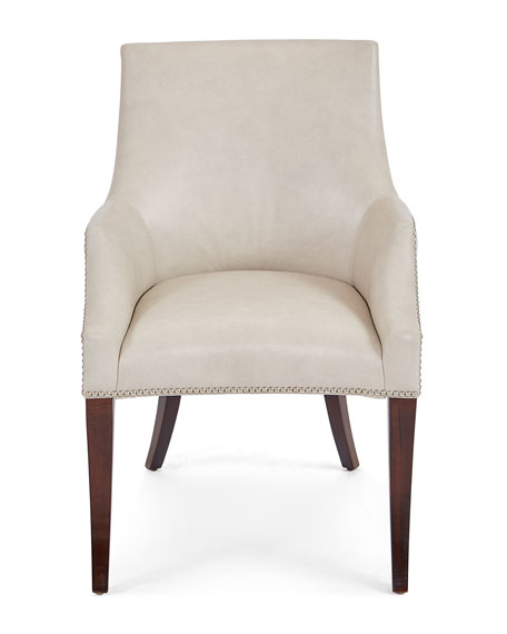 Keeley Ivory Leather Chair