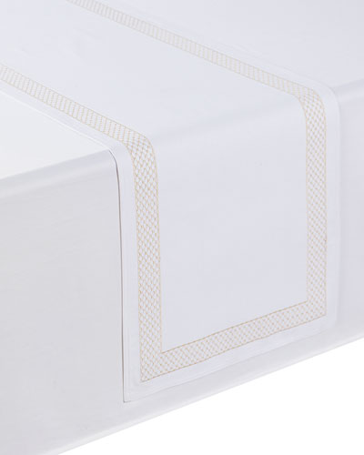 Netta Table Runner, White/Champagne, 16
