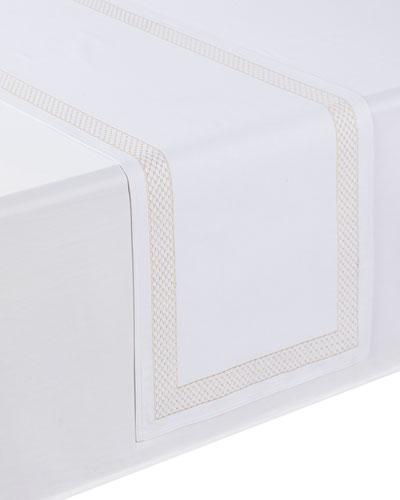 Netta Table Runner  White/Champagne  16 x 70
