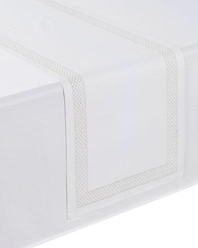 Netta Table Runner  White/Silver  16 x 70