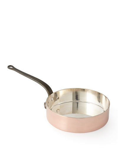 Solid Copper Saute Pan with Tin Lining