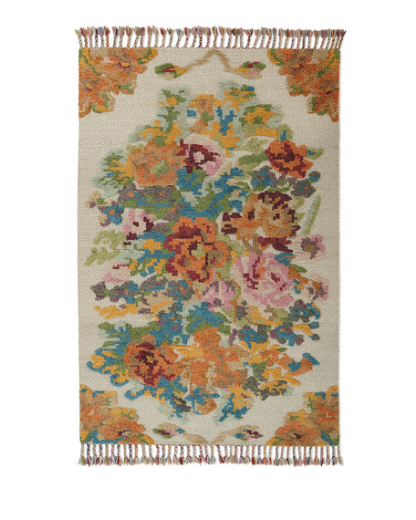Marigold Hand-Knotted Rug, 6' x 9'