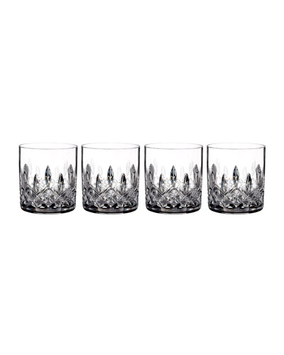 Lismore Straight-Sided Double Old-Fashioned Glasses  Set of 4