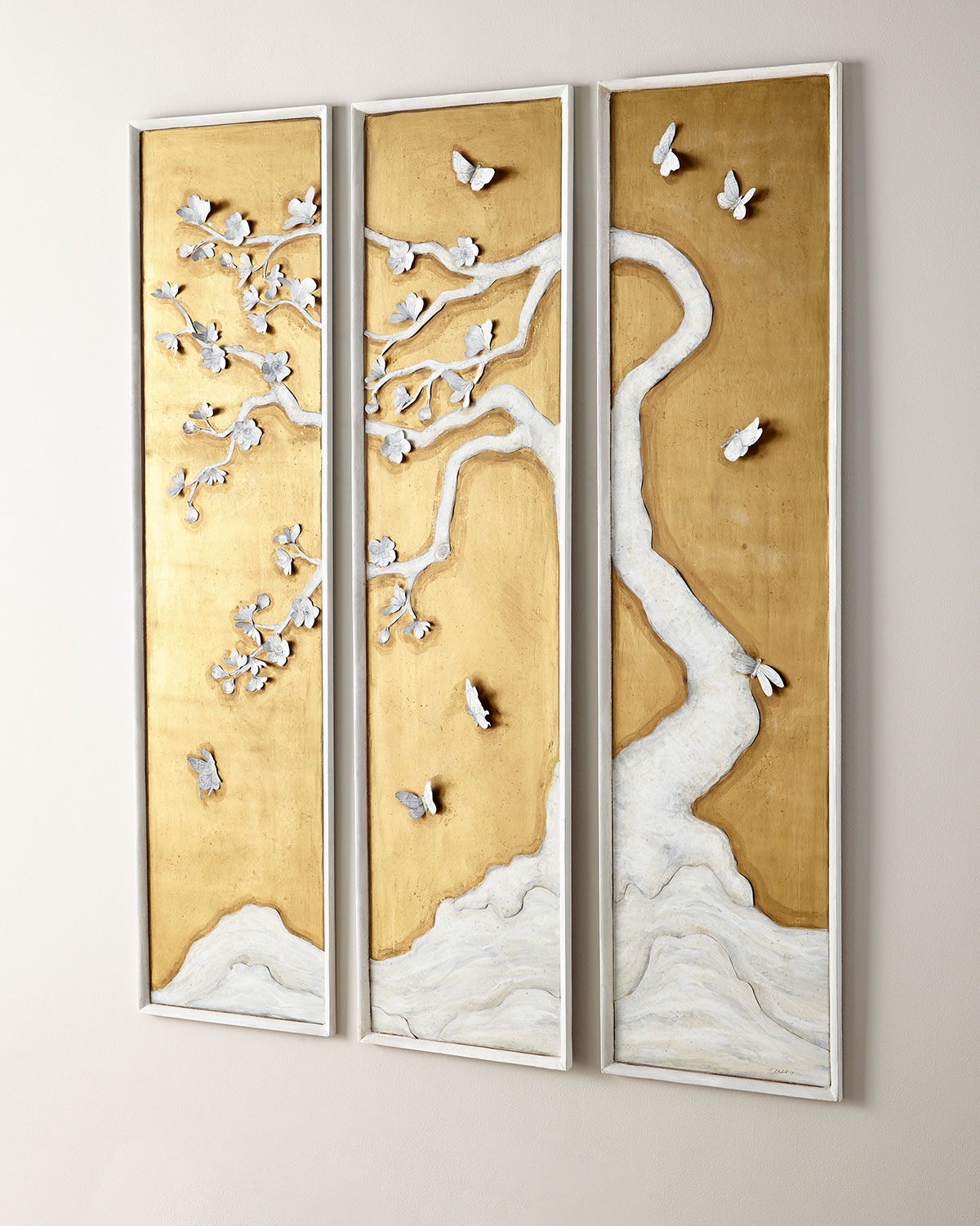 Tommy Mitchell3 Panel Tree With Butterflies