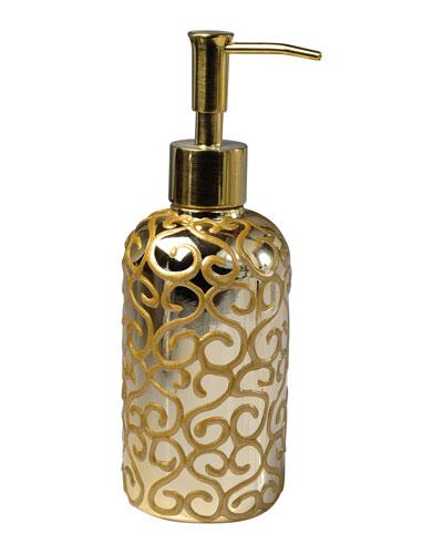Jamila Glass Pump Dispenser, Golden