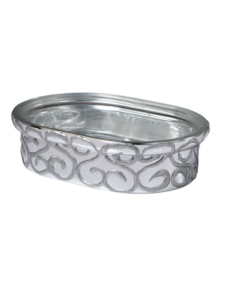 Jamila Glass Soap Dish, Silver