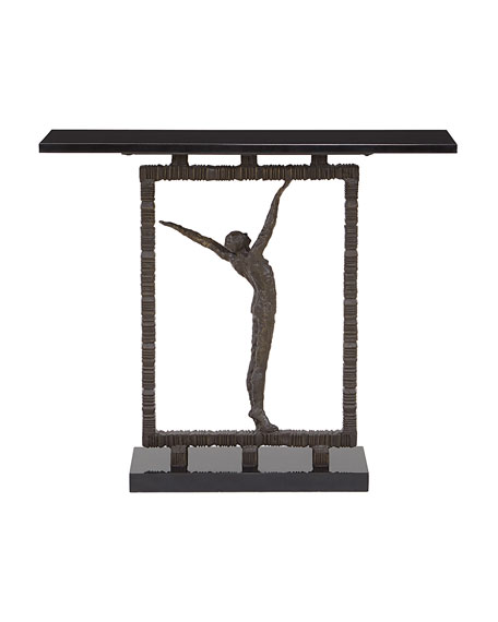 Bronze Statuesque Console Table