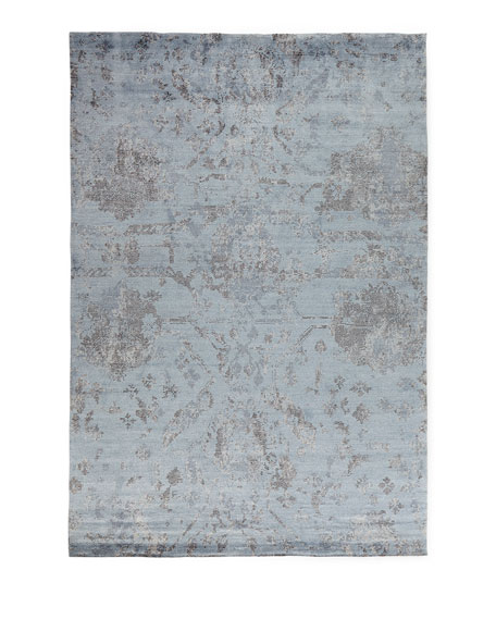 Jubilant Sky Hand-Knotted Rug, 3.9' x 5.9'