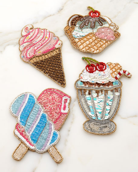 Kim Seybert Iscream Coasters, Set of 4