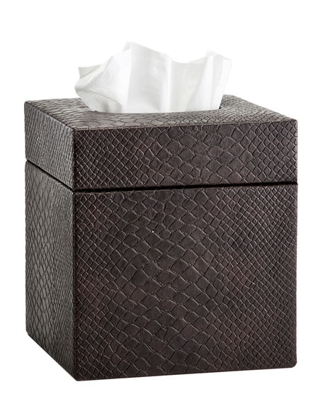 Conda Tissue Box Cover, Brown
