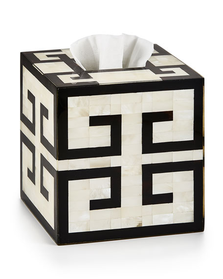 Greek Key Tissue Box Cover