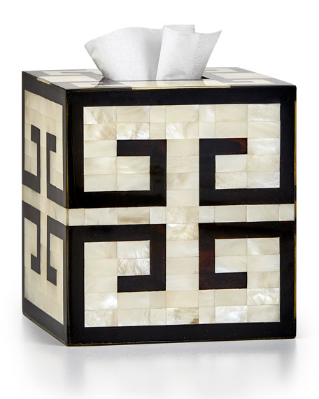 Labrazel Greek Key Tissue Box Cover