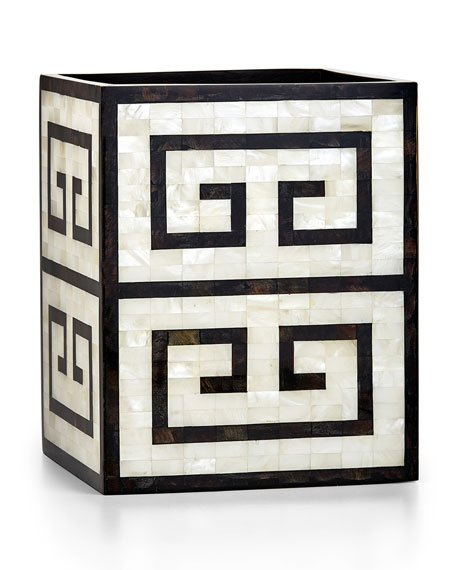 Greek Key Wastebasket