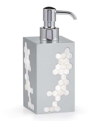 Hex Pump Dispenser  Silver