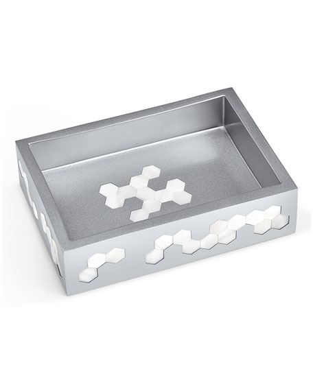 Hex Soap Dish, Silver