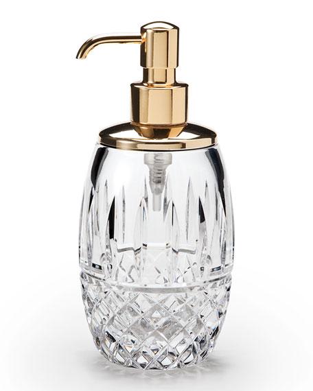 Marie Clear Pump Dispenser, Gold