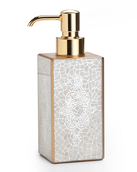 Miraflores Pump Dispenser, Gold