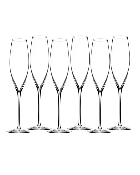 Elegance Classic Champagne Flutes, Set of 6