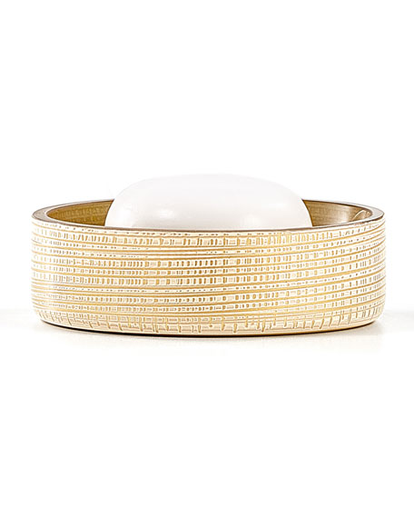 Woven Soap Dish, Gold