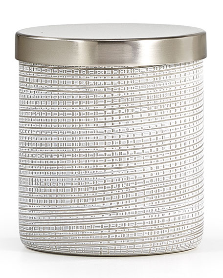 Woven Platinum Canister, Polished Nickel