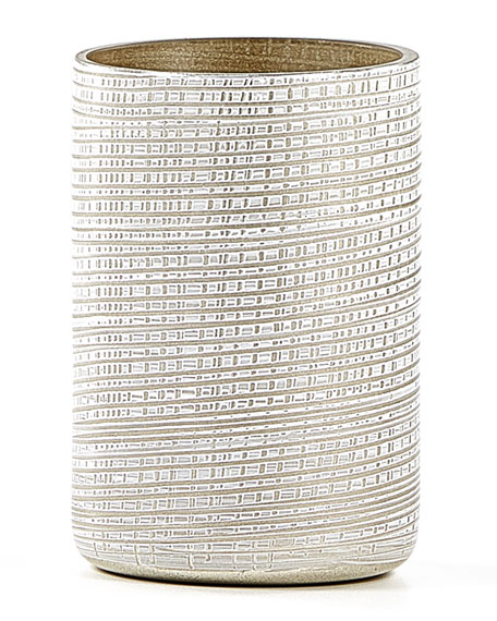 Woven Brush Holder, Platinum
