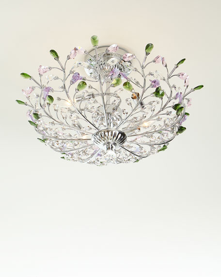 Versicolor Crystal Semi-Flush Mount Light Fixture