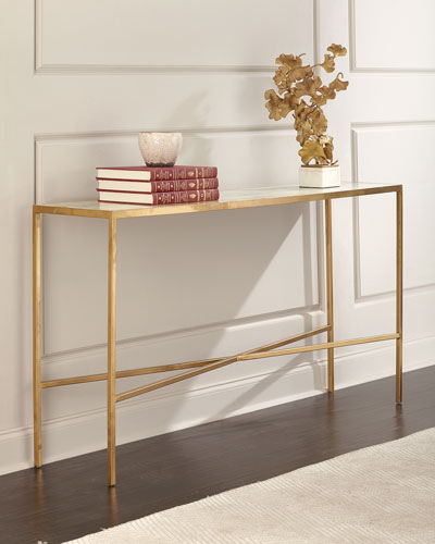 Lustrous Sky Console Table