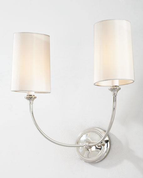 Sylvan 2-Light Polished Nickel Sconce