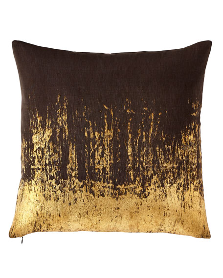 Distressed Metallic Pillow