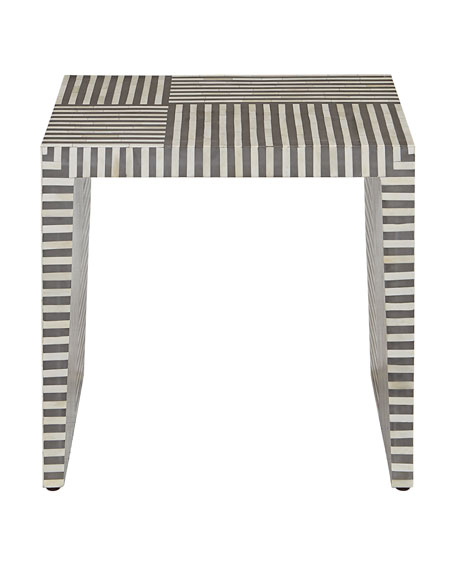 Farrah Bone Inlay Side Table