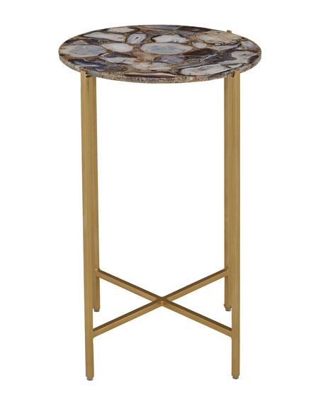 Blinn Round Agate Side Table