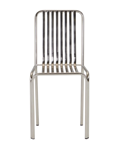 Zariza Pewter Finish Side Chair