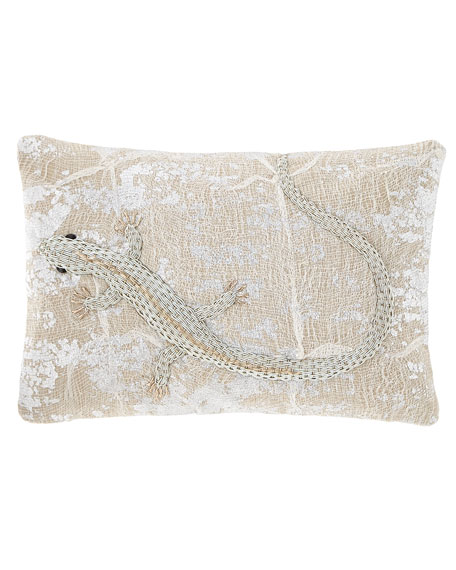 Michael Aram Palm Lizard Decorative Pillow