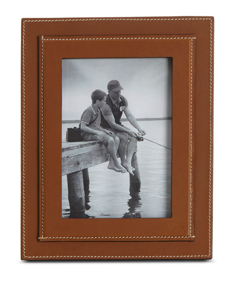 "Brennan Picture Frame, Saddle, 5"" x 7"""
