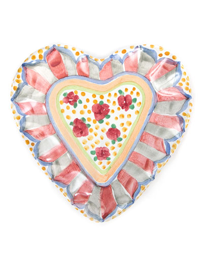 Cabbage Rose Heart Plate