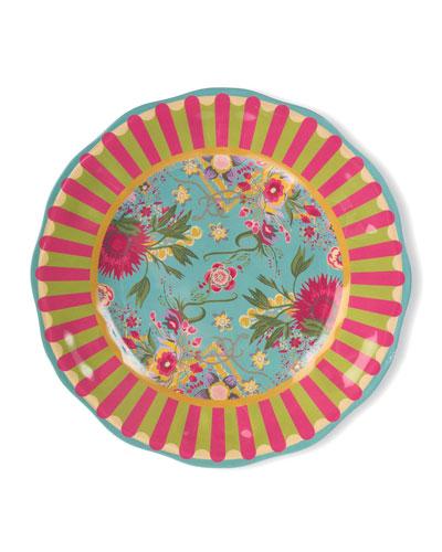 Florabundance Melamine Dinner Plates, Set of 4