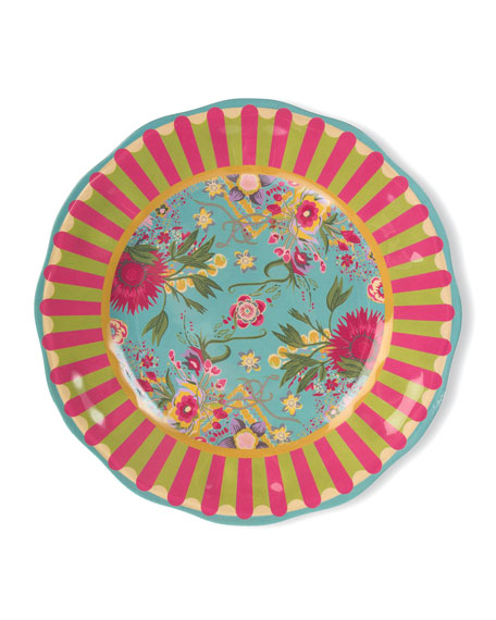 Florabundance Melamine Dinner Plates, Set of 4