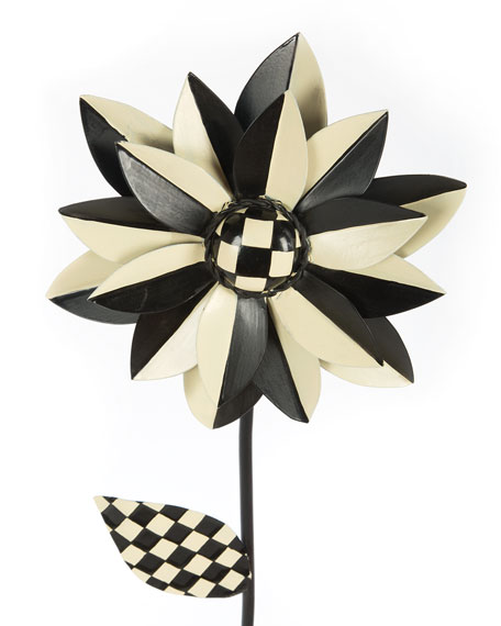 Flower Stake, Black/White