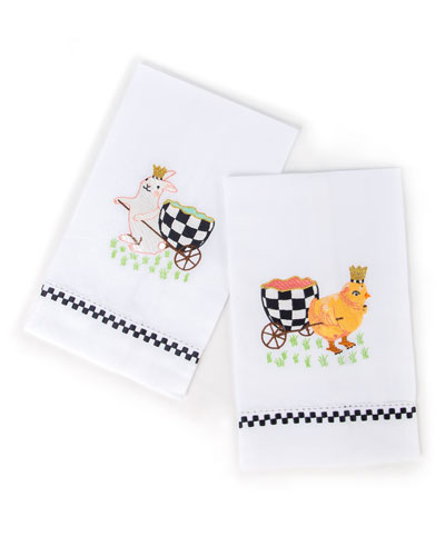 Egg Hunt Guest Towels  Set of 2