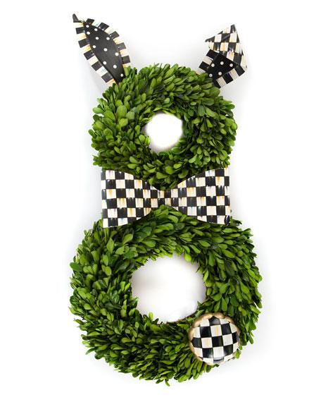 Boxwood Bunny Wreath