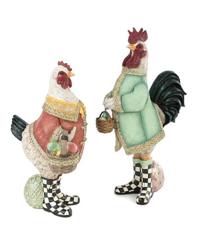 Courting Chickens, Set of 2